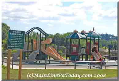 Wilson Farm Park All Abilities Playground in Chesterbrook
