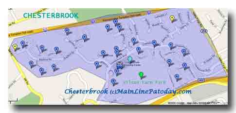 Chesterbrook Map-28 Chesterbrook Villages Chesterbrook Shopping Center Wilson Farm Park