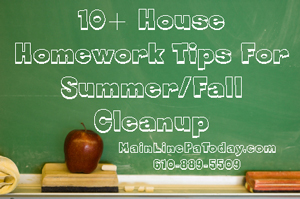 House Homework Summer/Fall Cleanup